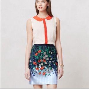 """Anthro Postmark """"Vertical Gardens"""" Skirt"""